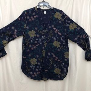Old Navy Pull Over Bohemian Flowered Top